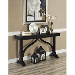 Wood Console Table in Black