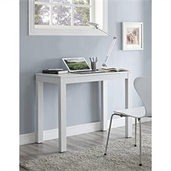 1 Drawer Home Office Desk in White Chevron