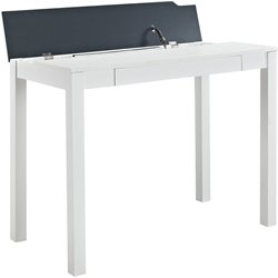 Flip-Up Parsons Home Office Desk in White