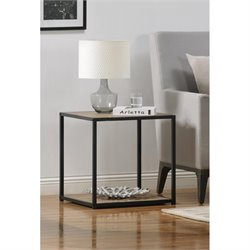 End Table with Metal Frame in Sonoma Oak