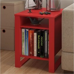 End Table in Ruby Red
