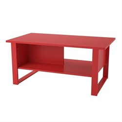 Coffee Table in Ruby Red