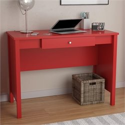 1 Drawer Computer Desk in Ruby Red