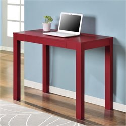 1 Drawer Computer Desk in Red
