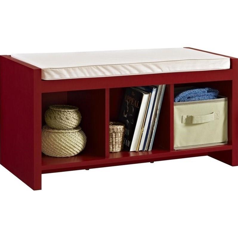 Entryway Storage Bench In Red 7522296pcom