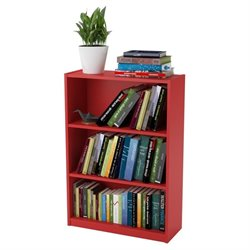 3-Shelf Bookcase in Ruby Red