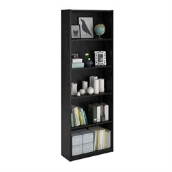 5-Shelf Bookcase in Black Ebony Ash
