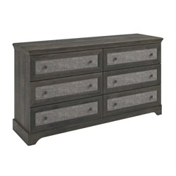 6 Drawer Dresser with Inserts in Rodeo Oak