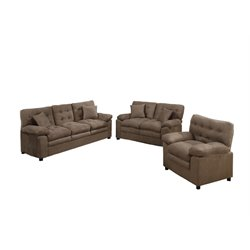 Poundex Bobkona Colona 3 Piece Sofa Set