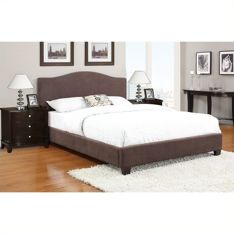 Poundex 3 piece queen size upholstered bedroom set in for 3 piece queen size bedroom set