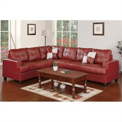 Poundex Bobkona Sherman Sofa and Loveseat Set