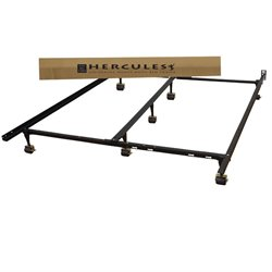 Universal Adjustable Metal Bed Frame in Black