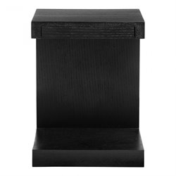 Moe's Zio Side Table in Black Oak