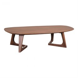 Moe's Godenza Coffee Table in Walnut