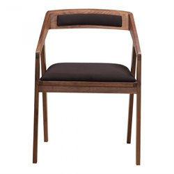 Moe's Padma Fabric Arm Chair in Black