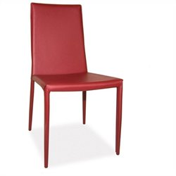 Moe's Lusso Dining Chair in Red