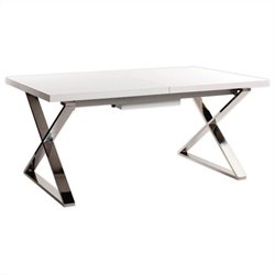 Moe's Cabello Extension Dining Table in White
