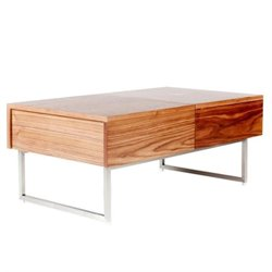 Moe's Kansu Coffee Table in Walnut