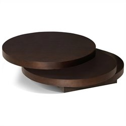 Moe's Torno Coffee Table in Dark Brown