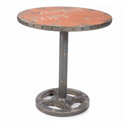 Moe's Wheel Round Dining Table in Orange