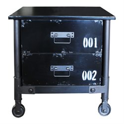 Moe's Soho 2 Drawer Cabinet in Black