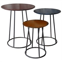 Moe's Metal End Table in Multicolor (Set of 3)