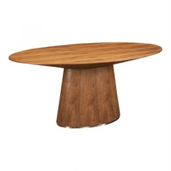 Moe's Otago Oval Dining Table in Walnut