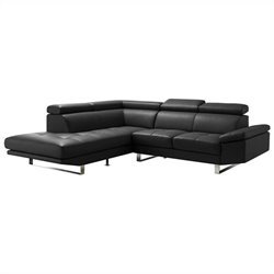Moe's Andreas Left Sectional in Black