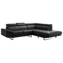 Moe's Andreas Right Sectional in Black