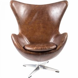 Moe's St Anne Leather Egg Chair in Brown