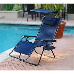 Jeco Oversized Olefin Zero Gravity Patio Recliner
