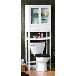 Jeco Space Saver Over the Toilet Cabinet in White