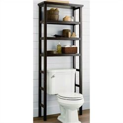 Jeco Space Saver Over the Toilet Rack in Brown