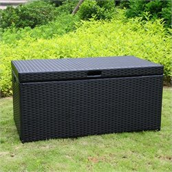 Wicker Patio Storage Deck