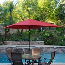 10' Aluminum Market Patio Umbrella with Crank (61)