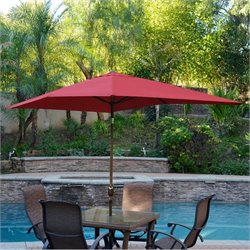 10' Aluminum Market Patio Umbrella with Crank (62)