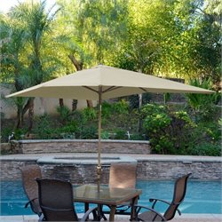 10' Aluminum Market Patio Umbrella with Crank (63)