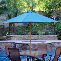 9ft. Wood Market Umbrella