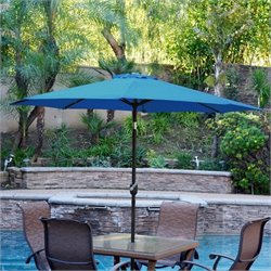 9' Aluminum Market Patio Umbrella with Crank (92)