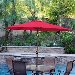 9' Aluminum Market Patio Umbrella with Crank (93)