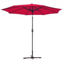 9' Aluminum Market Patio Umbrella with Crank (95)