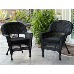 Jeco Wicker Chair in Black III