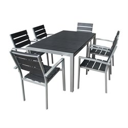 7 Piece Poly Wood Dining Set