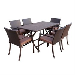 7 Piece Wicker Buffet Table Set