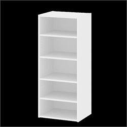 5 Shelf Bookcase in White