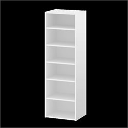 Tvilum Sonoma 6 Shelf Bookcase in White