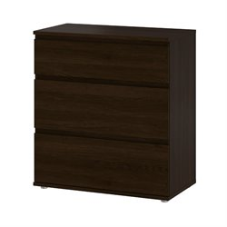 3 Drawer Wide Chest in Coffee