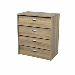 4 Drawer Shoe Cabinet in Oak Structure