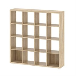 16 Shelf Bookcase in Oak Structure