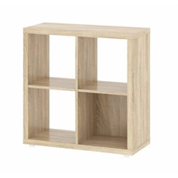 4 Shelf Cube Bookcase in Oak Structure